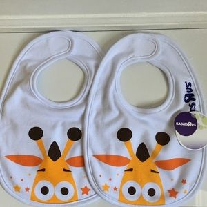Set of 2 Collectible Babies R Us Geoffrey Baby Bib